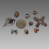 Lot of 10 Antique Bronze and Silver rings and Misc.