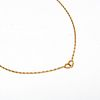 Hermes Chaine D'Ancre Heart Motif Yellow Gold Women's Y-necklace (Yellow Gold)