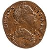 1774 Counterfeit British Farthing, King George III, Extremely Fine DOUBLE STRUCK