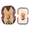 Two Alan Herschell Carved and Painted Wood and Metal Carousel Panels