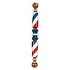 A Turned and Painted Pine Barber Pole, Koken Barber Supply Co., St. Louis, Missouri