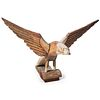 A Carved and Painted Wood Eagle by Albert Zahn (American, 1864-1953)