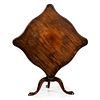 A Chippendale Mahogany Serpentine and Tilt-Top Tea Table, Likely Massachusetts