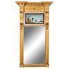A Classical Giltwood and Églomisé Mirror