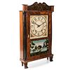 A Classical Parcel-Gilt and Ebonized Mahogany Églomisé Panel Inset 'Mount Vernon' Shelf Clock, Eli Terry Jr., Circa 1830