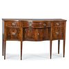 A Federal Inlaid Mahogany Serpentine-Front Sideboard, New York, Circa 1790