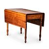 A Federal Cherrywood Drop-Leaf Table, Likely New England