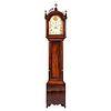 A Federal Mahogany Arched and Pierced Bonnet Tall Case Clock, Circa 1800