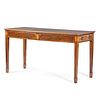 A Federal Marquetry Decorated Mahogany Walnut Veneered Serving Table, Likely Maryland, Circa 1790