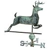 A Molded Sheet Copper and Cast Zinc Leaping Stag Weathervane, in the manner of E.G. Washburne & Co., New York, New York, circa 1890