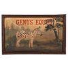 A Painted Wood Genus Equus Sign