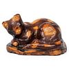 A Glazed Redware Cat