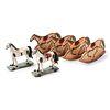 Six Wooden Horse Toys