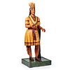 """A Painted Wood Tobacco Store """"Leaner"""" Figure, New York, Circa 1860s"""