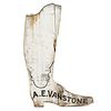 An A.E. Vanstone Carved and Painted Wood Boot Advertising Sign