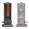 Two Northwestern Novelty Co. Penny Match Dispensers