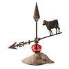 A Zinc Cow Lightning Rod
