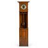 A Gustav Becker Arts and Crafts Oak Tall Case Clock