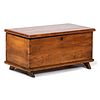 A Diminutive Pine Blanket Chest with Mule Shoe Feet