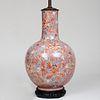 Chinese Style Crackle Glazed Bottle Vase Vase Mounted as Lamp