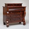 Late Federal Miniature Mahogany Tall Chest of Drawers