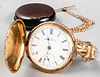 American Waltham Watch Co. 14K Pocket Watch & Fob