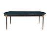 A Russian Neoclassical Style Gilt-Bronze-Mounted Green-Painted Dining Table Height 29 1/2 x length 86 1/2 x depth 53 1/2 inches.