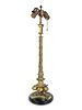 A French Etruscan Style Bronze Candlestick Height to top of finial 28 inches.