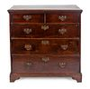 A George I Style Oak Chest of Drawers Height 40 x width 40 x depth 21 inches.