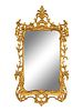 A George III Style Giltwood Mirror Height 47 1/2 x width 26 inches.