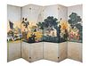 A Six-Panel Panoramic Zuber Wallpaper Panel Floor Screen Height 96 x width of each panel 26 inches.
