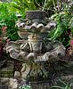 A Carved Stone Two Tier Shell Water Fountain Height 54 x diameter 51 inches.