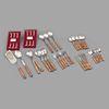 Servicio abierto de cubiertos. Diferentes orígenes. Siglo XX. Elaborados en metal, madera y material sintético. Pz: 144