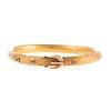 A Textured Gold Buckle Bangle Bracelet