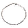A 6.95 ctw Diamond Tennis Bracelet in Platinum