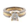 A GIA 1.55 ct Emerald Cut Diamond Ring in 18K