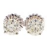 A Pair of Martini Set Diamond Stud Earrings