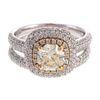 A 1.16 ct Diamond Engagement Ring & Band