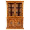 Biedermeier Inlaid Satin Wood China Cupboard