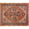 Antique Heriz Carpet, Persia, 9.7 x 12.3