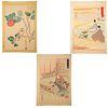 Ogata Gekko / Nakayama Sugakudo. Three Woodblocks