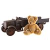 Steelcraft Pressed Steel Dump Truck & Bear