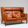Borge Mogensen Leather Upholstered Settee