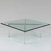Ludwig Mies van der Rohe Chrome and Glass 'Barcelona' Low Table