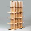 Modern Bleached Maple Transversal Bookcase