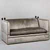 Brass Studded Velvet Upholstered 'Knole' Sofa