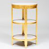 Jean-Michel Frank Style Modern Giltwood and Marble Three-Tier Guéridon