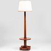 French Mid-Century Tulipwood Floor Lamp
