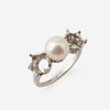 A platinum and natural pearl semi-mount, Tiffany & Co.,