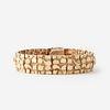 A fourteen karat gold bracelet,